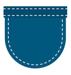 Blue jeans pocket icon isolated vector