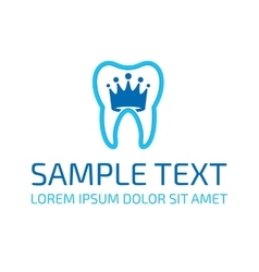 Dentist logo template vector image
