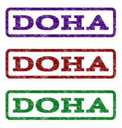 Doha watermark stamp vector