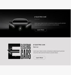 electric car banners template vector image vector image