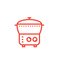 Electric cooker icon steamer multi cooker vector