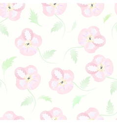 Floral seamless pattern watercolor flowers pastel vector