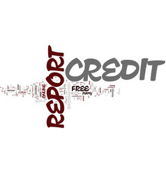 Free credit report know where do you stand text vector
