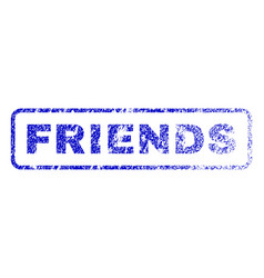 friends rubber stamp vector image