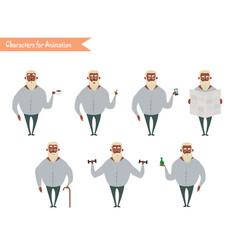 Funny african american grandpa cartoon vector