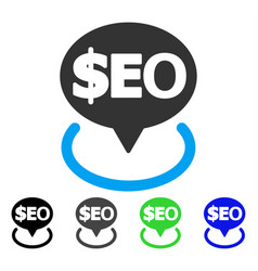 Geotargeting seo flat icon vector