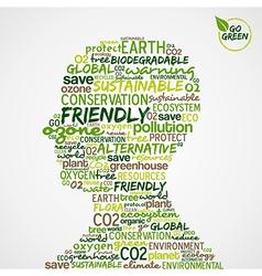 Go Green environmental cloud vector image
