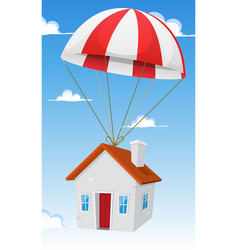 House by airmail shipping delivery vector