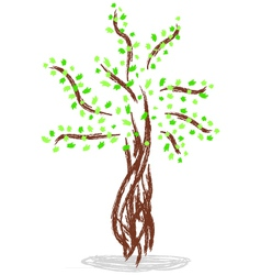 Isolated of tree vector image