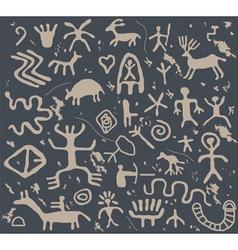 Petroglyphs vector