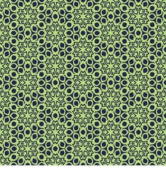 seamless with green snowflakes vector image vector image