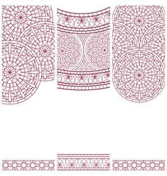Set of banners with mosaic ornament vector