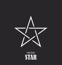 star flat abstract symbol popularity concept vector image vector image