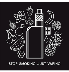 Taste of the e-cigarette vector image vector image