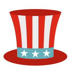Uncle sam hat icon isolated vector