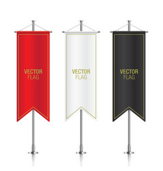 Vertical banner flags isolated vector image vector image