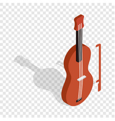 violin isometric icon vector image vector image