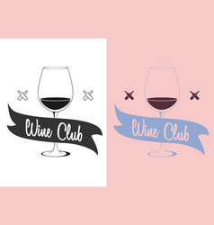 Wine logo label or badge concept vector