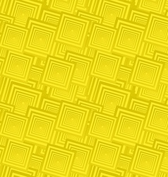 Yellow seamless square pattern background vector