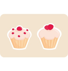 Sweet retro cupcakes silhouettes vector