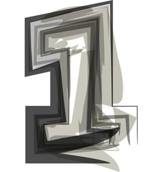 Abstract number 1 vector