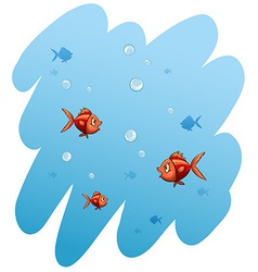 A school of fishes vector