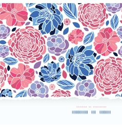 Summer flowers torn paper horizontal seamless vector