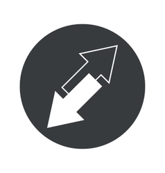 Monochrome round opposite arrows icon vector
