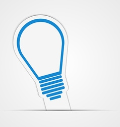 Light bulb sticker isolated vector