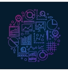 Round data analysis vector
