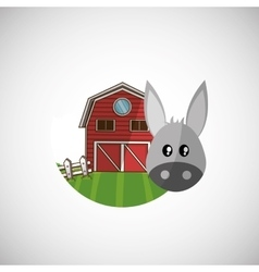 Animal design donkey icon isolated vector