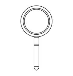 Single magnifying glass icon vector