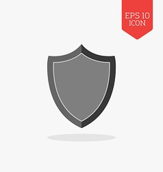 Shield icon flat design gray color symbol modern vector
