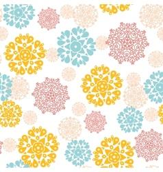 Abstract decorative circles stars seamless pattern vector image vector image