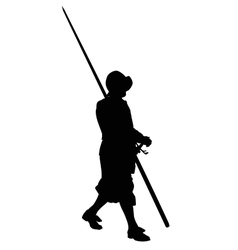 Ancient warrior marching with spear vector image