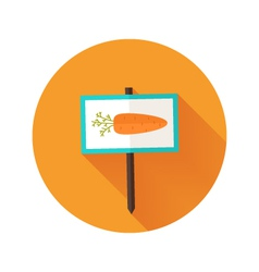 Carrot sign flat icon vector