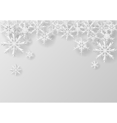 Christmas snowflake on paper vector