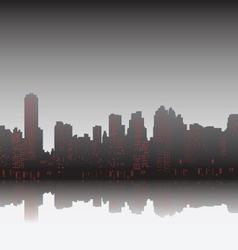 City on sunset vector