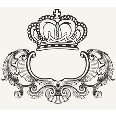 Crown Crest Composition vector image