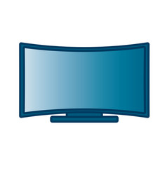 curved flat screen smart tv vector image vector image