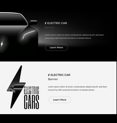 electric car banner template vector image vector image