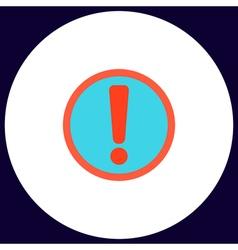 Exclamation computer symbol vector