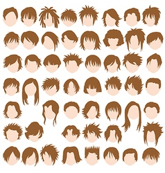 Female hair styles vector image vector image