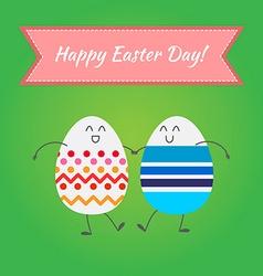 Happy easter happy eggs in eps vector image