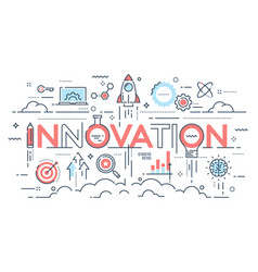 innovation new ideas creativity and technology vector image