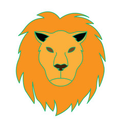 lion as leo vector image vector image