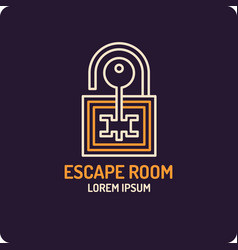 lock and key real-life room vector image vector image