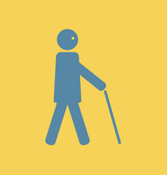 man with stick vector image vector image