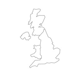 Map of united kingdom countries - england wales vector