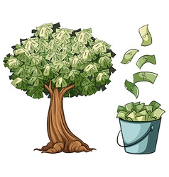 Money grows on tree vector